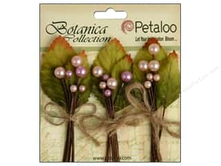 Decorative Floral Critters & Accessories Decoratable Blanks & Embellishments: Petaloo Botanica Collection Spring Berry Cluster Pink