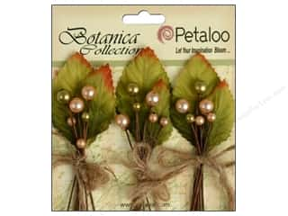 Decorative Floral Critters & Accessories Christmas: Petaloo Botanica Collection Spring Berry Cluster Peach/Green
