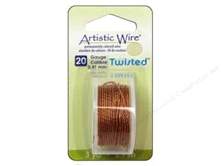Wirework Artistic Wire: Artistic Wire 20 ga. Twisted Wire 3 yd. Natural