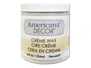 DecoArt Elegant Finish Paint: DecoArt Americana Decor Creme Wax 8 oz. Clear