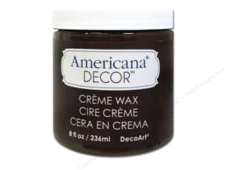 DecoArt Elegant Finish Paint: DecoArt Americana Decor Creme Wax 8 oz. Deep Brown
