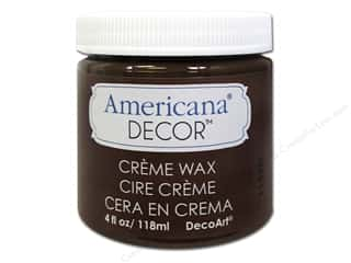 Home Decor Americana: DecoArt Americana Decor Creme Waxes Deep Brown 4oz