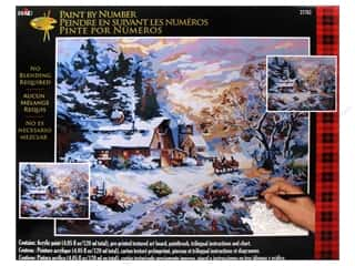 Outdoors $16 - $20: Plaid Paint By Number 16 x 20 in. Snowy Evening Outing