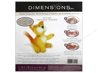 Dimensions Dimensions Applique Kit: Dimensions Needle Felting Kits Kitty Yellow