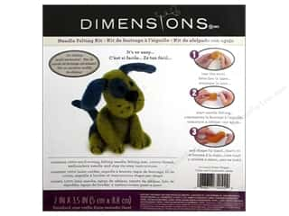 Dimensions Dimensions Applique Kit: Dimensions Needle Felting Kits Puppy Green