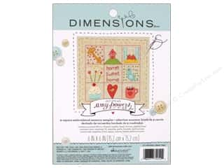 Stitchery, Embroidery, Cross Stitch & Needlepoint Crafting Kits: Dimensions Embroidery Kit Memory Sampler Amy Powers Home