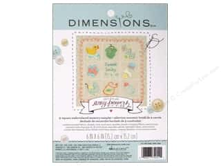Stitchery, Embroidery, Cross Stitch & Needlepoint Crafting Kits: Dimensions Embroidery Kit Memory Sampler Amy Powers Baby
