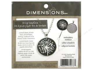Stitchery, Embroidery, Cross Stitch & Needlepoint Crafting Kits: Dimensions Cross Stitch Kit Dandelion Bezel Silver