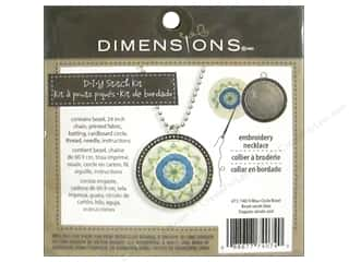 Stitchery, Embroidery, Cross Stitch & Needlepoint Crafting Kits: Dimensions Cross Stitch Kit Blue Circle Bezel Silver