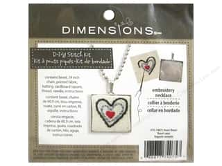square hoop: Dimensions Cross Stitch Kit Heart Bezel Silver