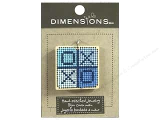 Threads Dimensions: Dimensions Jewelry Hand Stitched Large Square XO Natural