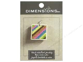 pendants jewelry: Dimensions Jewelry Hand Stitched Small Square Pattern Natural