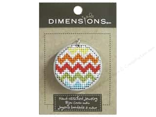 Felting Sale: Dimensions Jewelry Hand Stitched Large Circle Chevron Silver