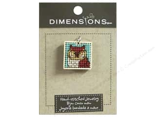 Felting Sale: Dimensions Jewelry Hand Stitched Small Square Owl Natural
