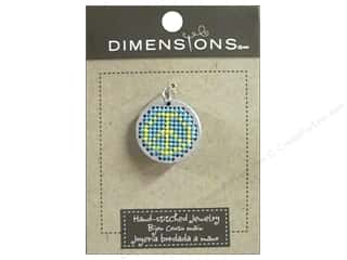 Dimensions Jewelry Hand Stitched Circle Peace Slv