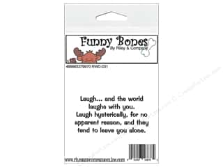 Just For Laughs: Riley & Company Cling Stamps Funny Bones Laugh And The World
