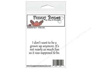 Boning $2 - $3: Riley & Company Cling Stamps Funny Bones I Don't Want To