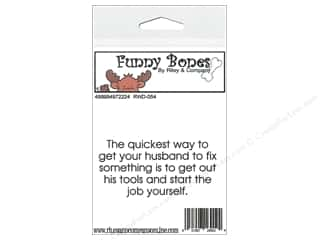 Boning $2 - $3: Riley & Company Cling Stamps Funny Bones Get Your Husband