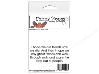Boning $3 - $4: Riley & Company Cling Stamps Funny Bones I Hope We Are Friends