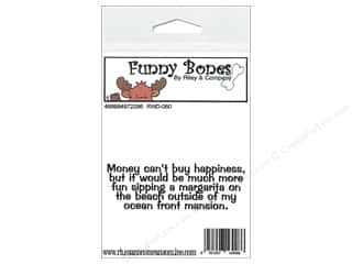 Boning $2 - $3: Riley & Company Cling Stamps Funny Bones Money Cant Buy
