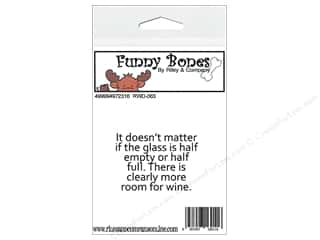 R&C Cling Stamp Funny Bones The Glass Is Half