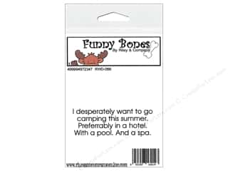 Boning $2 - $3: Riley & Company Cling Stamps Funny Bones I Wanted To Go