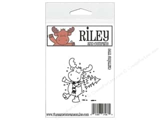 moose: Riley & Company Cling Stamps Carrying Tree