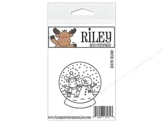 R&C Cling Stamp Snowglobe