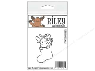 moose: Riley & Company Cling Stamps Stocking Sophie
