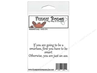 Boning $3 - $4: Riley & Company Cling Stamps Funny Bones Be Smart First