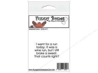 R&C Cling Stamp Funny Bones Going For A Run