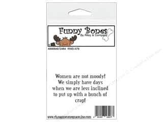 Boning $3 - $4: Riley & Company Cling Stamps Funny Bones Women Are Not