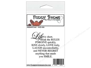 Boning $2 - $3: Riley & Company Cling Stamps Funny Bones Life Is Short
