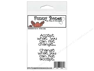 Boning $3 - $7: R&C Cling Stamps Funny Bones Accept What You