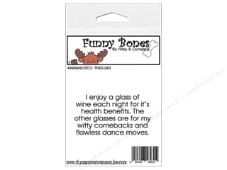 R&C Cling Stamp Funny Bones Wine For Health