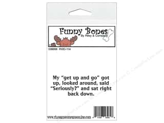 Boning $3 - $4: Riley & Company Cling Stamps Funny Bones My Get Up and Go