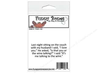 Boning $3 - $4: Riley & Company Cling Stamps Funny Bones Sitting On The