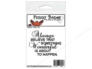 Boning $2 - $3: Riley & Company Cling Stamps Funny Bones Always Believe