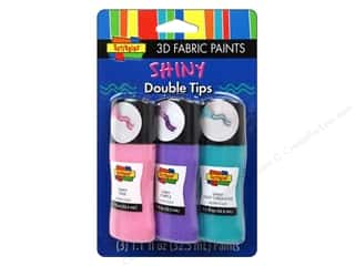Paints: Scribbles 3D Fabric Paint Set Crazy Tip Princess 3pc