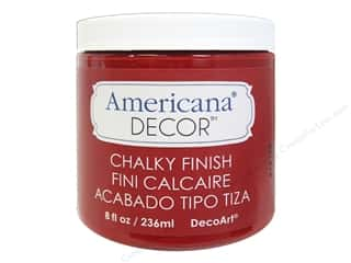 Stock Up Sale Adhesive: DecoArt Americana Decor Chalky Finish 8 oz. Rouge