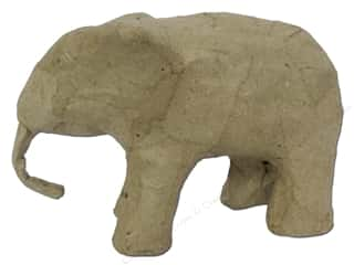 Home Decor $0 - $3: Paper Mache Mini Elephant 3 in. by Craft Pedlars