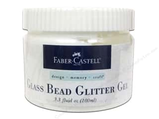 Glass Jars / Plastic Jars Scrapbooking & Paper Crafts: FaberCastell Prep & Finish Glass Bead Glitter Gel Jar 3.3oz