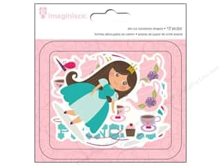 Tea & Coffee Scrapbooking & Paper Crafts: Imaginisce Die Cut Little Princess Cardstock Brown Hair