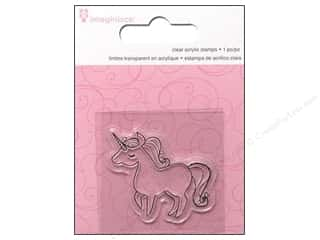 Imaginisce Stamps: Imaginisce Snag Em Stamp Little Princess Unicorn