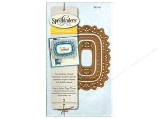Spellbinders Die D Lites Fancy Label Tags Three