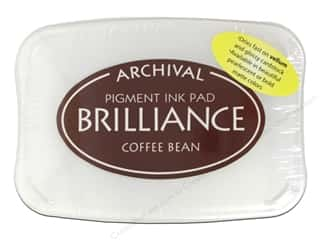 Stamping Ink Pads 2 1/2 in: Tsukineko Brilliance Large Stamp Pad Coffee Bean