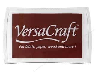 Scrapbooking & Paper Crafts Black: Tsukineko VersaCraft Large Craft Ink Stamp Pad Chocolate