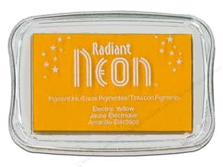 Inks Sale: Tsukineko Radiant Neon Pigment Ink Pad Large Electric Yellow