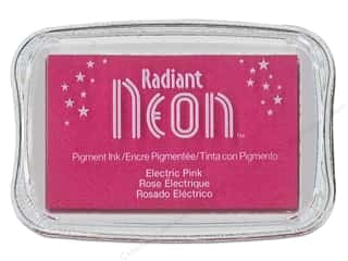 Inks Sale: Tsukineko Radiant Neon Pigment Ink Pad Large Electric Pink