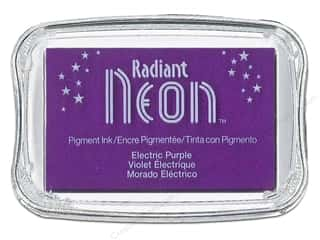 Inks Sale: Tsukineko Radiant Neon Pigment Ink Pad Large Electric Purple